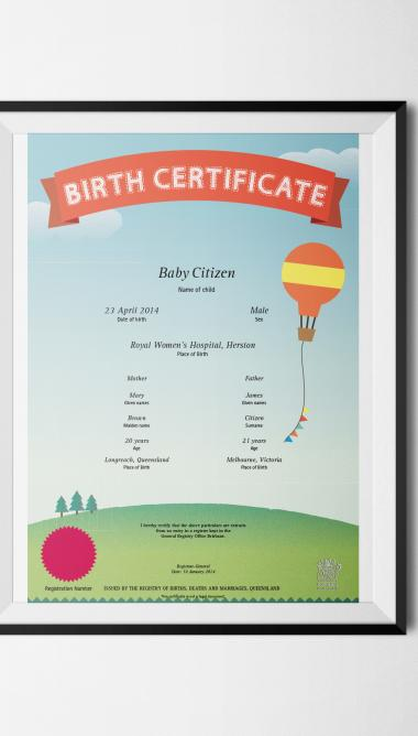 Commemorative Birth Certificate